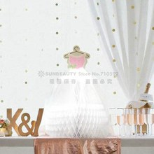 Honeycomb Wedding Dress Table Center Wedding Decoration Bride Marriage Gauze Honeycomb Centerpiece Anniversary Romantic(China)