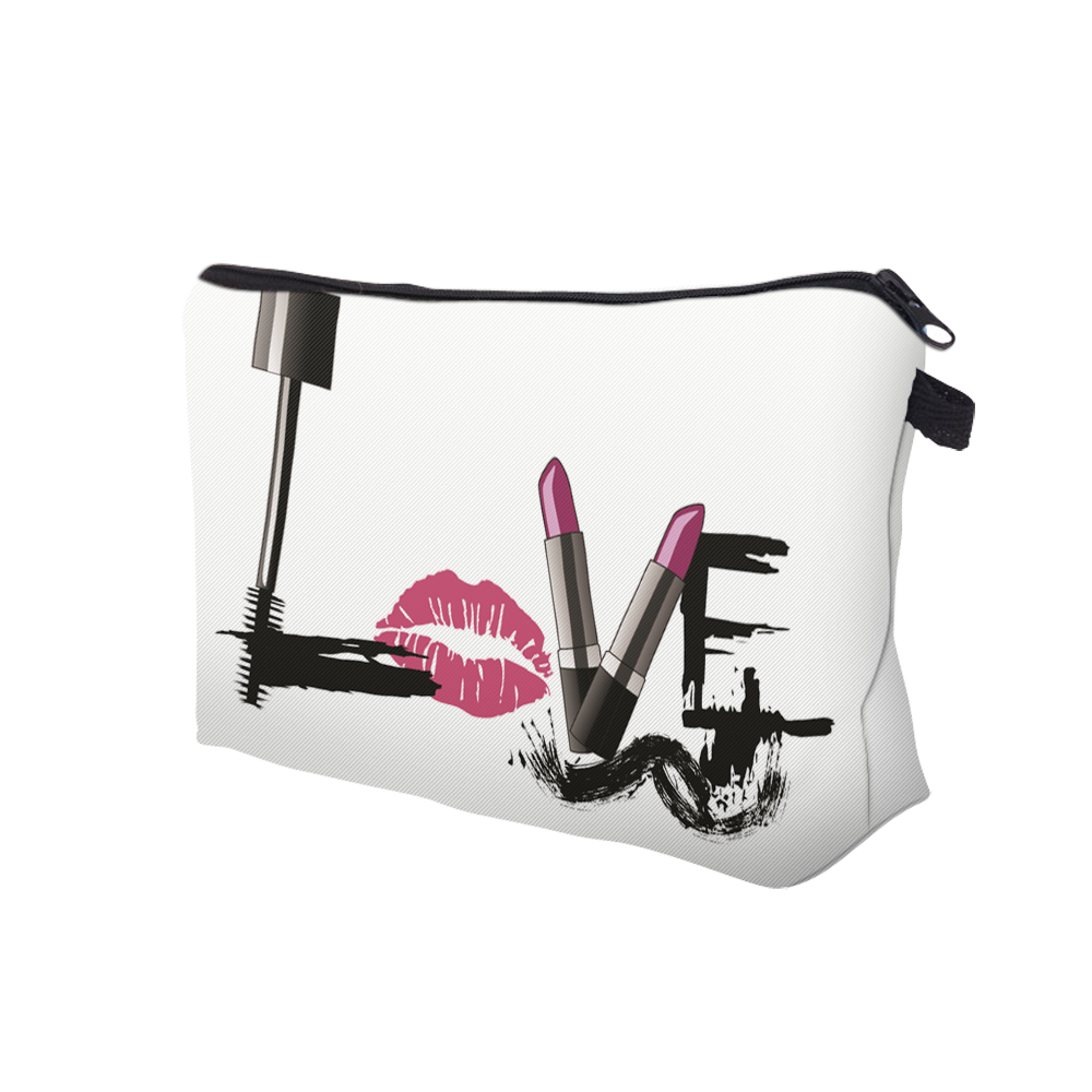 """I Like My Eyelashes"" Printed Makeup Bag Organizer 12"