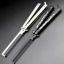New Brand Smart Practice Balisong Butterfly Multi Functional Double Dragon Dull Knife Trainer Comb(China)
