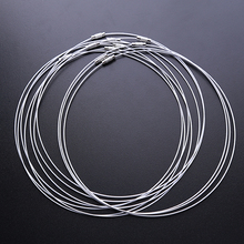 30pcs/lot Wholesale Fashion White Copper Memory Wire Necklace Choker Cords 160197