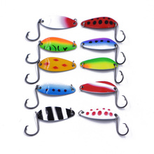 Buy 10Pcs/Lot New Top Metal Spinner Spoon Fishing Lure 6g 4mm Fishing Hard Lure Spoon Wobbler Bait Fishing Tackle for $4.98 in AliExpress store