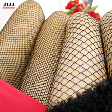 Buy mesh Women Girls Silver Gold Color Tights Lady Sexy fishnet Hook Stockings Glitter Shimmer Female High Quality Shiny Pantyhose