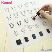 1Pc Silicone Nail Art Stamp Mat Decal Maker DIY Reverse Stamping Manicure New #Y207E# Hot Sale