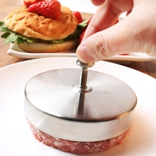 Original Hamburger Maker Mold Stainless Steel Meat Compactor Hand Operated Hamburger Press Cooking Tools Silver 1PC(China)