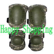 Tactical cycling hunting outdoor sports knee and elbow protector pads set ACU camo(ht047)