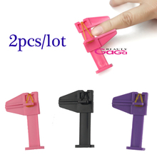 Beauty Nail Art Product 2pcs/lot Nails Pinch Clamp Nail Art Locator for Finger  Skin Care Manicure Tool Pink/Purple/Black