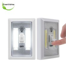 1X COB LED Switch Wireless Cordless Night Light Closet Cabinet Wardrobe Night Lamp Battery Operated Sticky On W/Magnetic