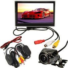 Car Wireless 5 Inch TFT LCD Display Car Monitor With Waterproof Night Vision Security Metal Car Rear View Camera