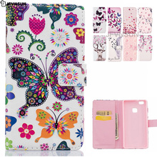 JFVNSUN Phone Case for Huawei P9 / P9 lite 2017 NEW Flower Cute Bear Deer Pattern Wallet Leather Flip Cover for Huawei P9 lite