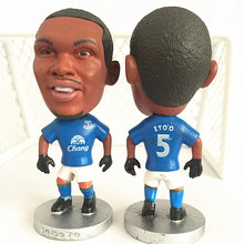 Soccerwe Stand 5 Eto'o Soccer Doll ( Everton 14-15 ) Blue(China)