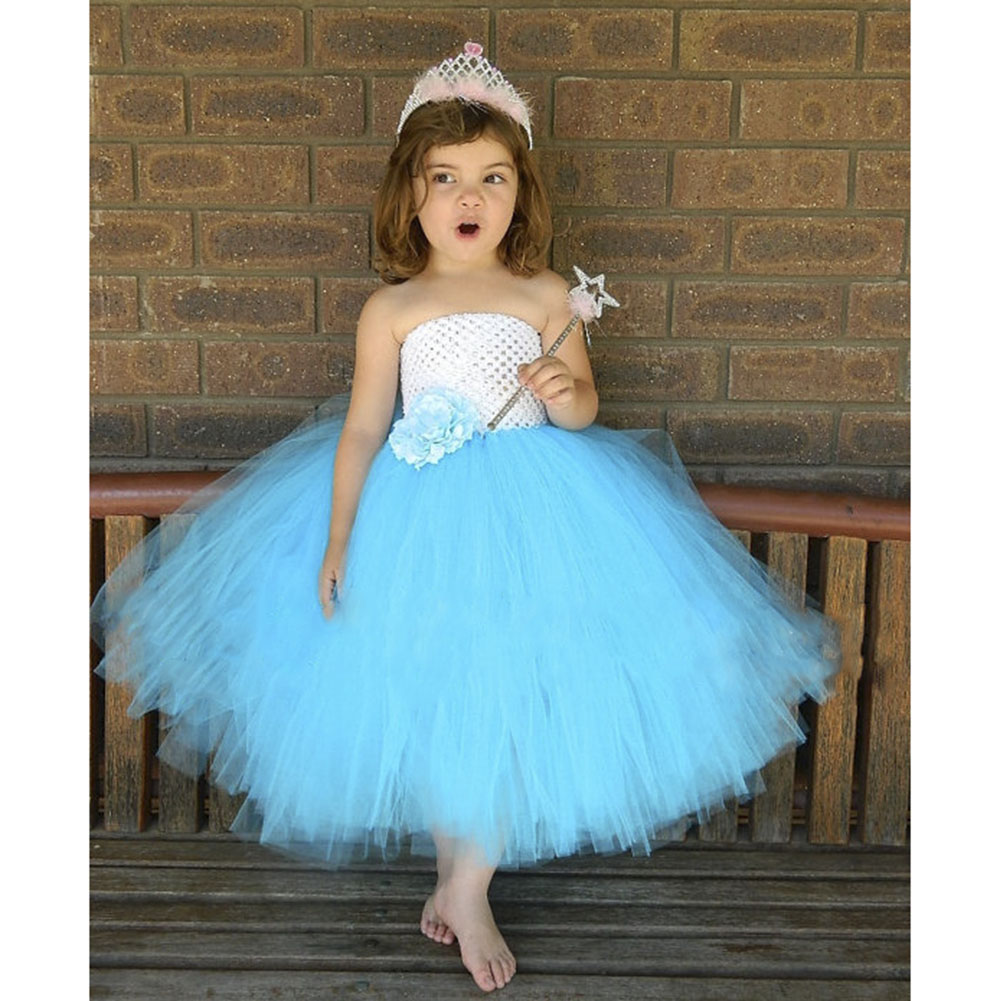Aqua blue Tutu Dress  white and Blue Birthday Kids Dress For Girls Tutu for special Occasion Newborn to young Teen PT205<br><br>Aliexpress