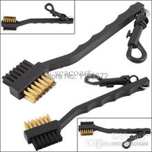 600pcs Dual Bristles Golf Club Brush Cleaner Ball 2 Way Cleaning Clip Plastic Groove Golf Tools