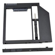 "New Arrival Black 2nd HDD Caddy 9.5mm SATA 3.0 HDD Case Enclosure for Laptop CD/DVD-ROM Optical Bay for 2.5"" 7mm / 9mm SSD"