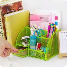 New Colorful Home Office School Metal Desktop Storage Box Organiser Drawer Pen Card Office Zakka Organizer Stationery Holder
