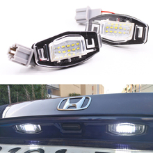 2pcs White 18 LED License Plate Lights For Acura RL TSX RDX Honda Civic Accord