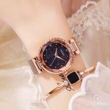 985d2aa158f Top Da Marca Rosa de Ouro Relógios de Quartzo Vestido Relógio de Cristal  Das Senhoras Das Mulheres relógio de Pulso de Aço Inoxi.