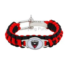 MLS D.C. United Paracord Bracelet Adjustable Survival Bracelet Soccer Teams Bracelet Drop Shipping!