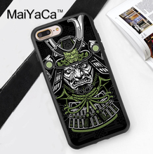 Japan Samurai Mask Printed Soft Rubber Mobile Phone Cases OEM For iPhone 6 6S Plus 7 7 Plus 5 5S 5C SE 4 4S Cover Skin Shell