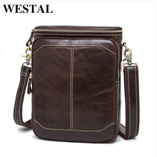 WESTAL Hot Sale Male Bags 100% Genuine Leather Men Bags Messenger Crossbody Shoulder Bag Men's Casual Travel Bag For Man 8003(China)
