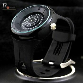 2016 homens homens Enmex presente criativo luz projeto do código de tempo relógio de pulso à prova d' água esportes cool 3d escala moda relógios de quartzo