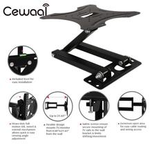 "Cewaal Iron Material 14-42"" LCD LED TV Mounts Bracket HD TV Tilt Wall Mount Stand Holder Bracket TV Mounts Foldable Swivel Black(China)"