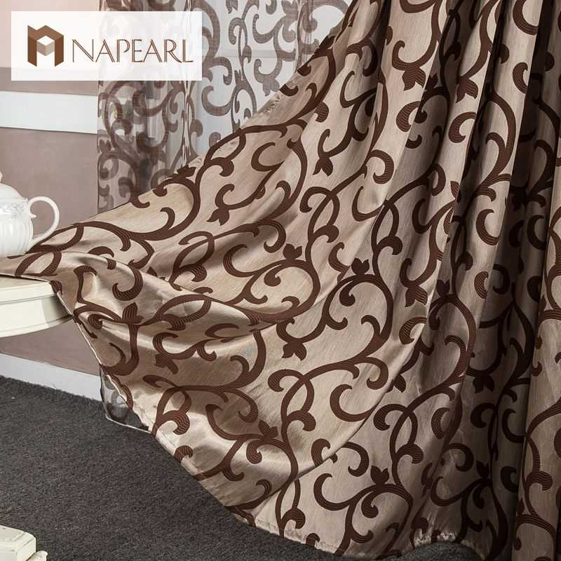 NAPEARL European style window treatments 3d curtains Chinese curtains home textile decoration modern curtain short curtain