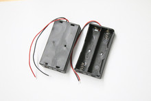 NEW Battery Storage Case Plastic for 2 x 18650 Box Holder Black With Wire Lead Wholesale