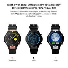 gentleman cool wristwatch MTK6580 smartwatch saat Clock GPS Wifi 3G Heart Rate Monitor For Android IOS smart Phone Watches(China)