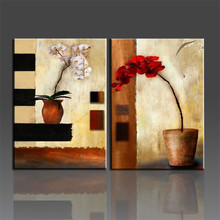 Handmade Painting On the wall Modern Abstract Oil Painting Painted On Canvas Art Flower Pictures Wall Pictures For Living Room