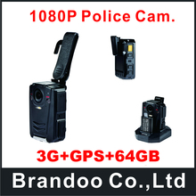 3G+GPS+64GB Police Body Worn Digital Camera Build-in GPS
