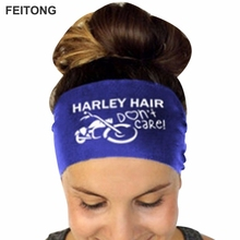 feitong Harley hair Ladies Letter Sports Yoga Sweatband Gym Headband Hair Band Ladies' letter print Headband dropship #25(China)