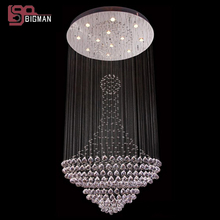 New lustre design chandelier crystal light chandelier flush mount modern staircase chandelier lighting