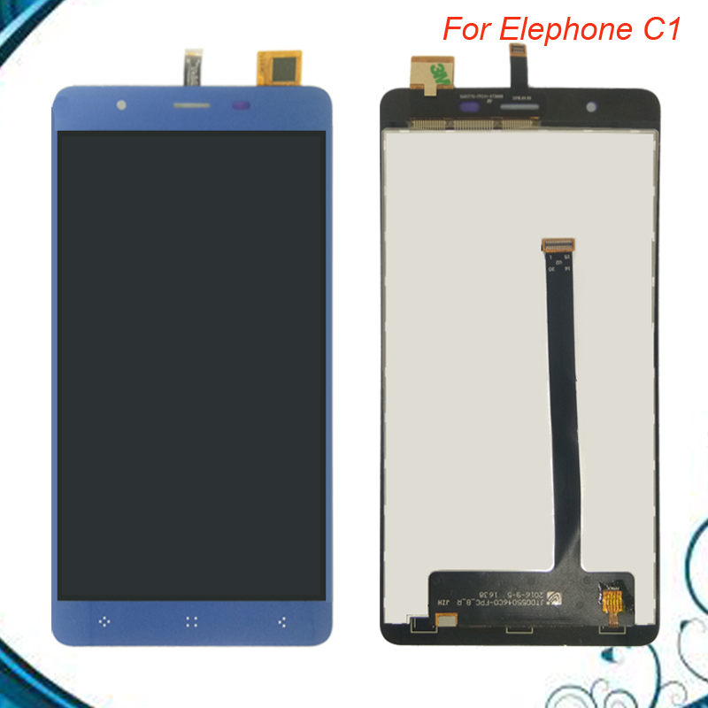 FOR Elephone C1 LCD Display+Touch Screen+Tools 100% NEW Digitizer Assembly Replacement Accessories +Free tools free shipping