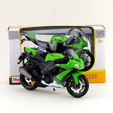 Maisto/1:12 Scale/Simulation Diecast model motorcycle toy/KAWASAKI Ninja ZX-10R Supercross/Delicate children's toy/Colllection(China)