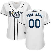 MLB Women's Tampa Bay Rays White Home Cool Base Custom Jersey(China)