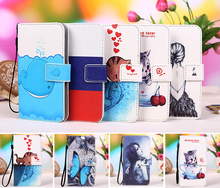 New item 100% Special Cartoon Painting Case PU Leather Flip cover Case For Explay Phantom +Tracking number(China)