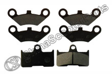 3 Pairs Semi metallic Front Rear Brake Pad For CFmoto CF500 500 500CC CF600 600 600CC X5 X6 X8 U5 ATV UTV Shineary(China)