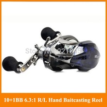Free Shiping Bait Casting 6.3:1 Ratio 2000 Gear 10+1 BB Lure Reel baitcasting Left/Right Reel Bag Low Profile  Fishing Tackle