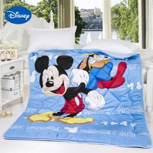 Mickey Mouse Goofy Comforters Disney Character Printing Cotton Cover Quilts Boys Bedding Decor Single Twin Full Queen Size Blue(China)