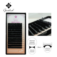 Genie 3pcs/lot Ellispe Flat Eyelash extension Soft Thin Tip Flat Roots False Eyelash Extension flat ellipse eyelash extensions(China)