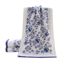 34*74cm Soft Cotton Face Flower Towel Bamboo Fiber Quick Dry Towels(China)