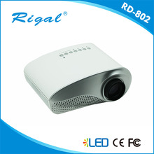 Free Shipping New arrive original Rigal RD-802 3D Projector HD1080P Home support the red and blue 3 d Projector