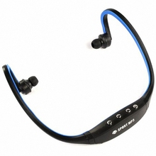 Cheap Sport  4 Key Wireless Headset Headphone Music Mp3 Player Tf Card + Fm Radio Earphone for Running Fitness
