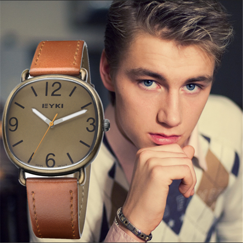 Men Watches 2017 Luxury Simple Fashion Quartz-watch Waterproof Watches Brand Luxury Relojes Hombre Leather Relogios masculinos<br><br>Aliexpress