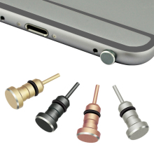 Metal Phone 2 in 1 Sim Card Tray Eject Pin Tool & 3.5mm Earphone Jack Dust Plug Dustproof Cap Gadget For iPhone 6 6s 5s xiaomi