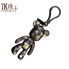 Fashion Personality fashion doll toy PVC bears Limbs can move car keychain key chain key ring keyring key holder model gifts(China)