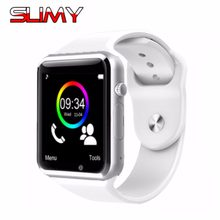 Слизняк A1 Bluetooth Smart часы W8 для Apple Watch с Камера 2 г SIM карты памяти слот Smartwatch телефон для Android IPhone России T15(China)