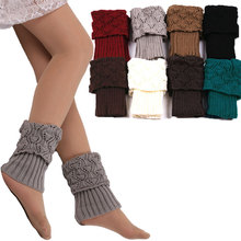 Awaytr 2017 Hot Sale Women Winter Leg Warmers Acrylon Wool Crochet Hollow Knit Boot Socks Toppers Cuffs