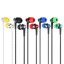 MP3 MP4 Wiring Subwoofer Headset Ear Braided Rope Wire Cloth Rope Earplug Noise Isolating Earphone Handfree(China)