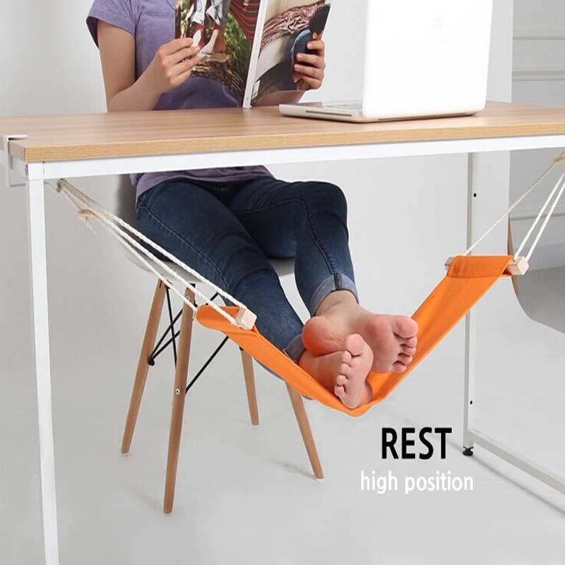 Foot Rest Hammock Hang Feet Pedal Relieve Rexlax Tired Foot Network Table Feet Rest Tool Care Feet Hammock<br><br>Aliexpress